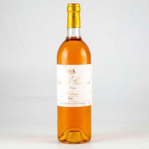 1 bouteille CHÂTEAU GUITERONDE DE HAYLOT 1995 Sauternes  Niveau Bon  Légères gri…