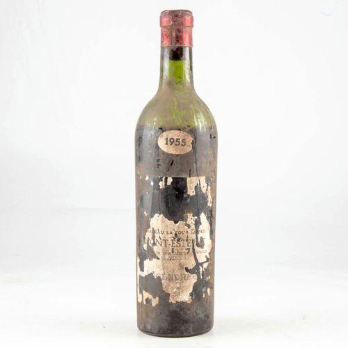 1 bouteille CHÂTEAU LA TOUR DE PEZ 1955 Saint Estephe  Niveau bas  Etiquettres t…