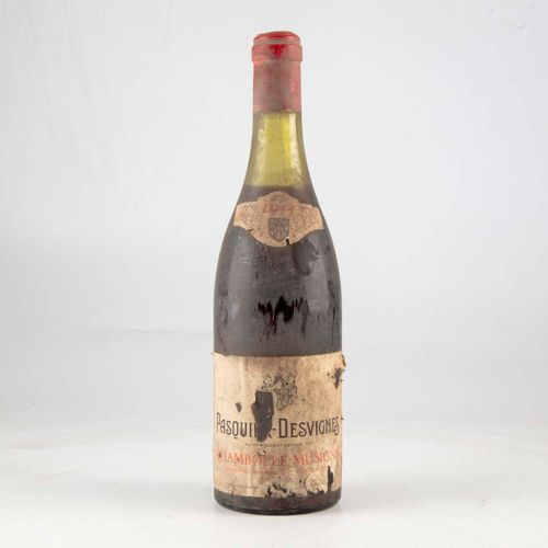 1 bouteille CHAMBOLLE MUSIGNY 1955 Pasquier Desvignes  Niveau mi épaule  Etiquet…