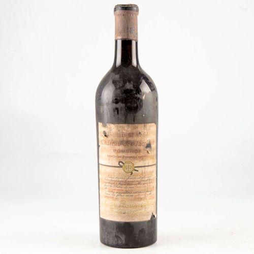 1 bouteille CHÂTEAU DES JACOBINS 1967 Pomerol  Niveau léger bas  Etiquette fanée…
