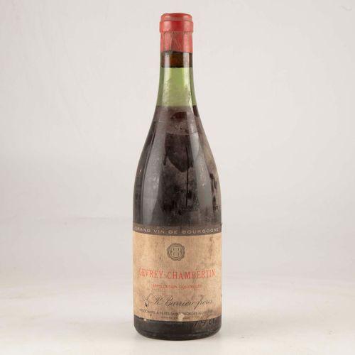 1 bouteille GEVREY CHAMBERTIN 1955 ? Barrière frères  Niveau léger bas à haute é…