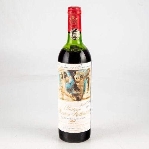 1 bouteille CHATEAU MOUTON ROTHSCHILD 1973, Premier cru classé en 1973 en homage…