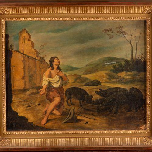 MURILLO D'après Bartolomé Esteban MURILLO (16171682)  Suite de 6 scènes sur la p…