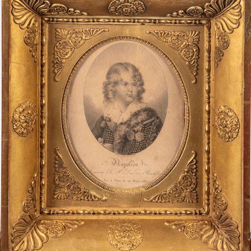 Portrait de Napoléon II, Duc de Reichftat.  Gravure à vue ovale  H. : 18 cm L. :…