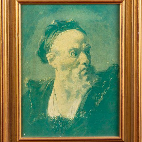 Portrait d'homme  Chromolithographie  27 x 20 cm