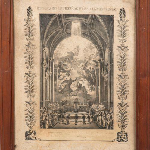FRAGONARD D'après FRAGONARD  Souvenir de première communion et de confirmation. …