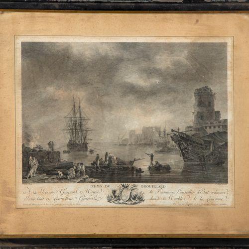VERNET D'après Joseph VERNET (1714 1789), gravé par ALIAMET  Temps de brouillard…