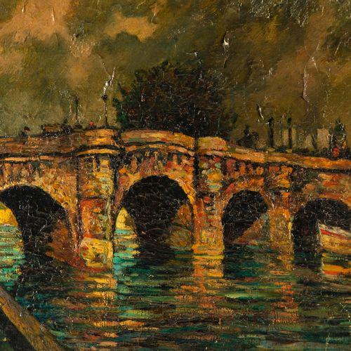 DUMONT Pierre DUMONT (1884 1936)  Le pont neuf  Huile sur toile signée en bas à …