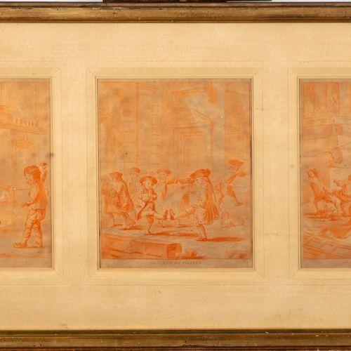 TILLIARD D'après Jean Baptiste TILLIARD ( 1740 1813)  Jeux d'enfants  Suite de s…