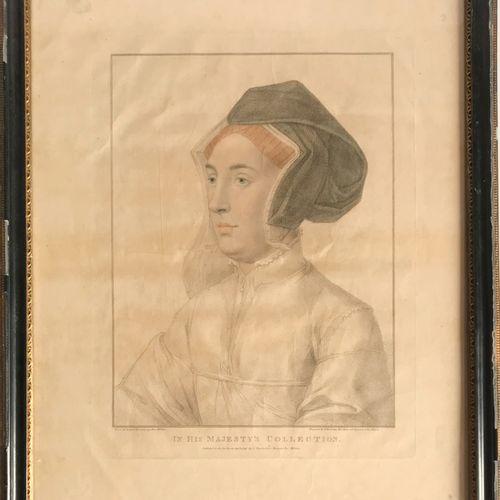 HOLBEIN D'après Hans HOLBEIN, gravé par F. BARTOLOZZI  Portrait de Dame  Gravure…