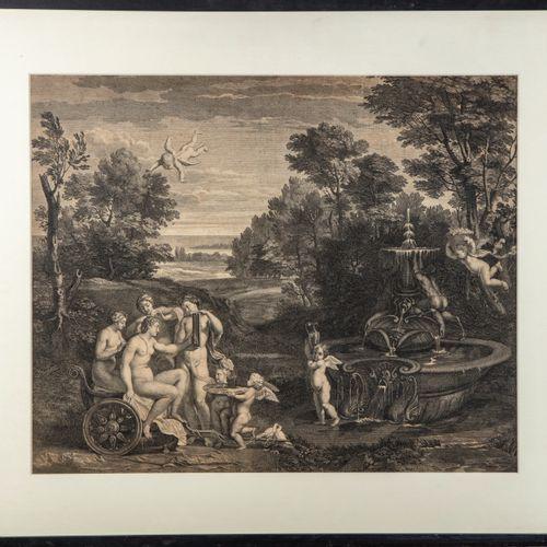 CARRACCI D'après Annibale CARRACCI gravé par Bernard PICART XVIIIe  La toilette …