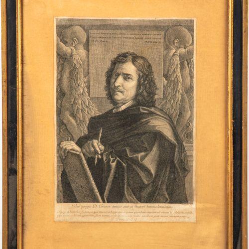 PASNE Jean PESNE (1623 1700)  Gravure d'après l'autoportrait de Nicolas POUSSIN …