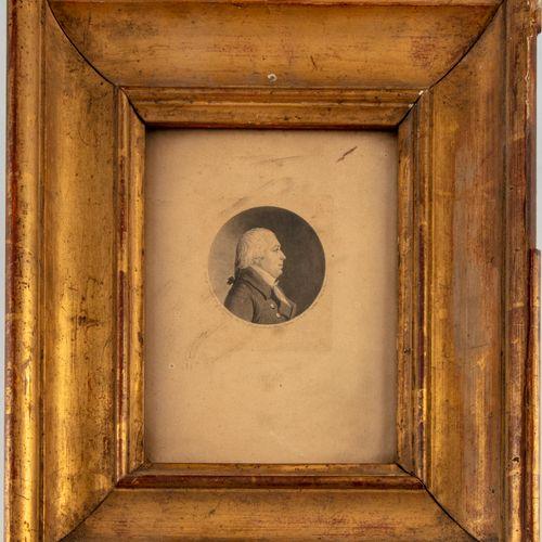 FOURNIER D'après FOURNIER, gravé par CHRETIEN (1754 1811)  Portrait d'un homme d…