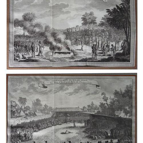 VAN DER SCHLEY Jacob van der SCHLEY XVIIIe  Couronnement du roi de Juida en 1723…