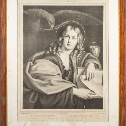Le DOMINIQUIN D'après LE DOMINIQUIN  Saint Jean l'Evangeliste  Imprimé par Franç…