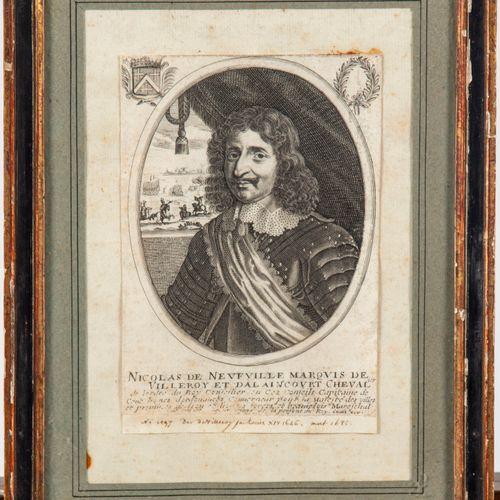ECOLE FRANCAISE  Portait de Nicolas de Neufville Marquis de Villeroy et Dalainco…