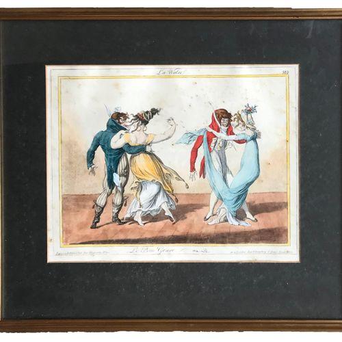 DE LA MESANGERE D'après Pierre de la MESANGERE (1761 1831)  La Walse de la Série…