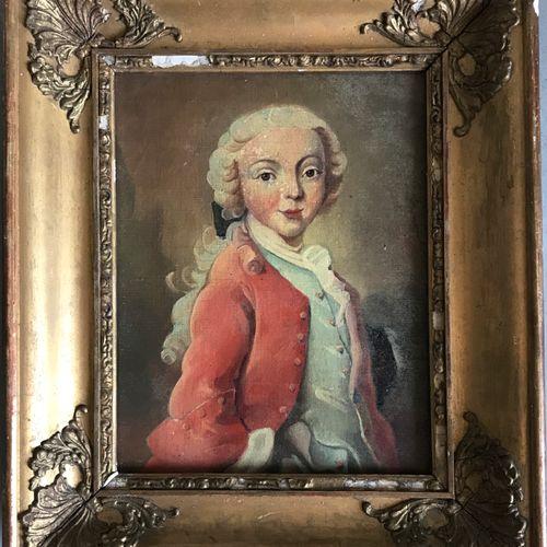 ECOLE FRANCAISE dans le style du XVIIIe  Portrait d'enfant gentilhomme  Huile su…