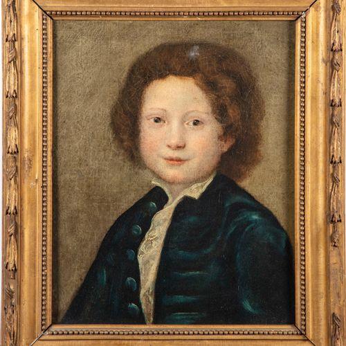 ECOLE ITALIENNE XIXe  Portrait de jeune garçon dans le style du XVIIIe  Huile su…