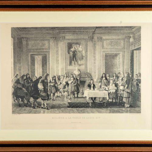 VETTER D'après H. J. VETTER, gravé par A . LALAUZE  Molière à la table de Louis …