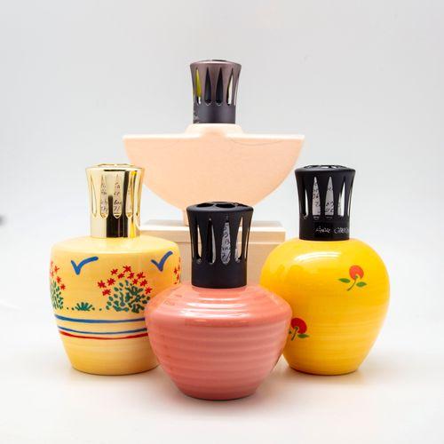 CASENOVE Pierre CASENOVE  Suite de quatre lampes BERGER en céramique à décor éma…