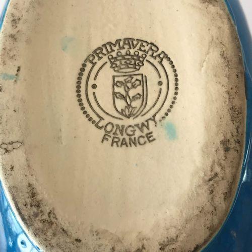 PRIMAVERA Manufacture de LONGWY pour PRIMAVERA  Vase gourde en faïence émaillée …