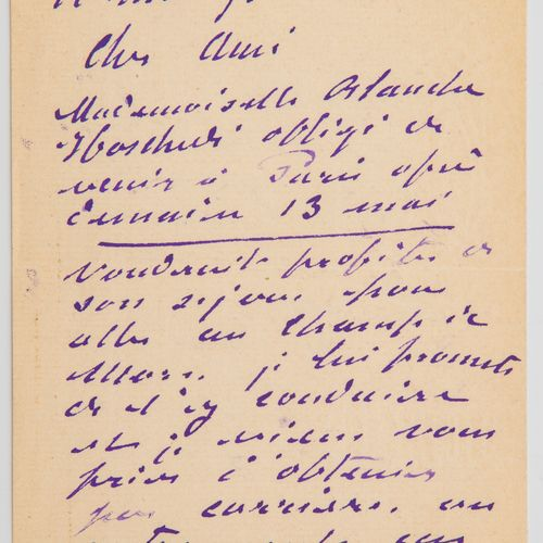 Monet Claude MONET (1840 1926). Lettre autographe signée, à [Gustave Geffroy]. G…