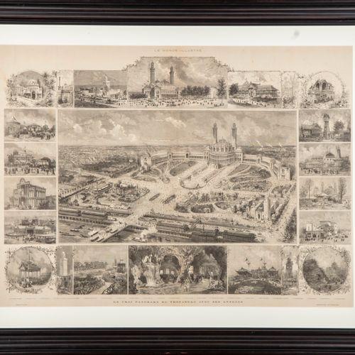 SCOTT D'après Henri Louis SCOTT(vers 1846 1884)  Le vrai panorama du Trocadéro a…