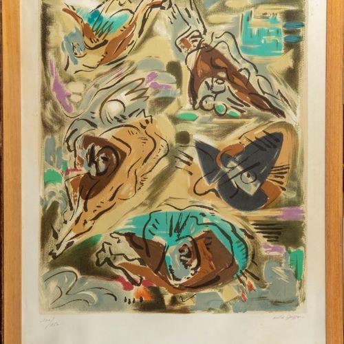 MASSON André MASSON (1896 1987)  Sans titre  Lithographie en couleurs  Signée et…