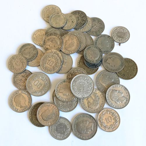 Ensemble de pièces de monnaie SUISSE ....  En l'état