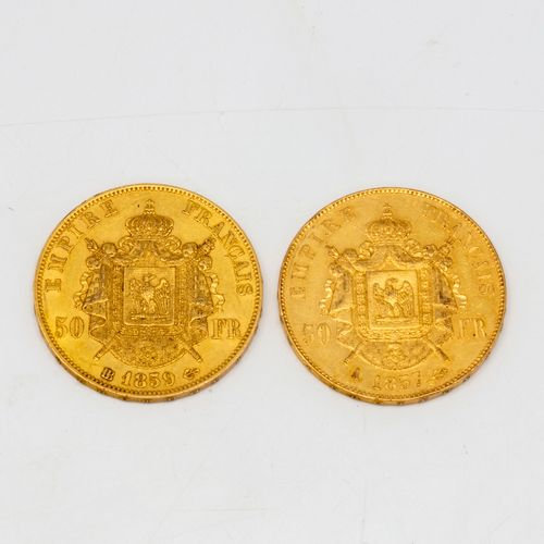 2 x 50 francs or Napoléon III
