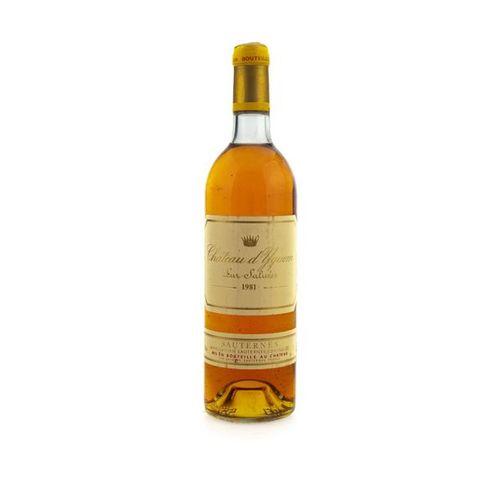 1 B CHATEAU D'YQUEM (B.G. ; e.L.S.) Sauternes 1er CC supérieur 1981
