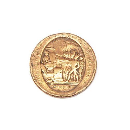 """MONNERON Médaille en cuivre """"vivre libre ou mourir"""""""