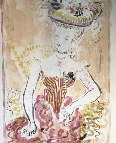 Constantin TERECHKOVITCH (1902 1978) Elégante Lithographie signée et datée 54, n…