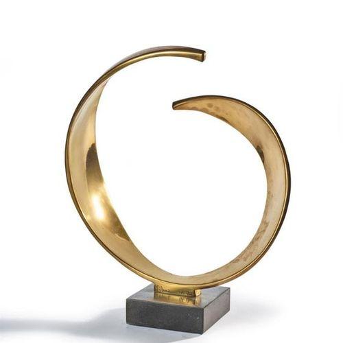 S. ANNA Voiles solaires Épreuve en bronze doré, signée et numérotée E.A I/III. H…