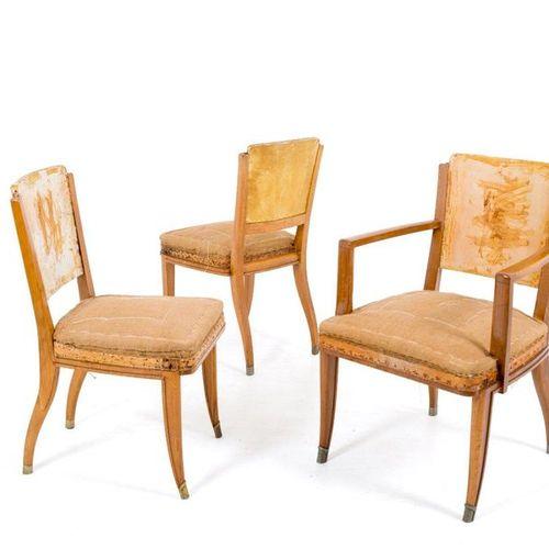J. E. RUHLMANN. Eight chairs and two armchairs JACQUES EMILE RUHLMANN (Paris, 18…
