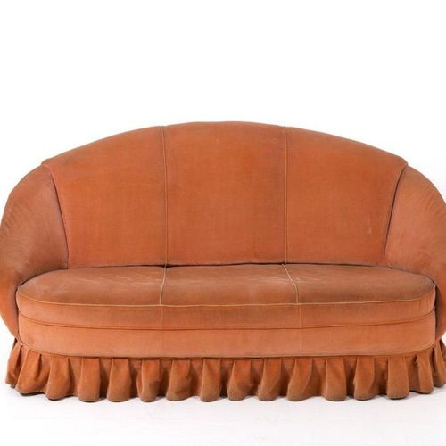GIO PONTI (Attr). Velvet and original fabric sofa GIO PONTI (Attr.) (Milan, 1891…