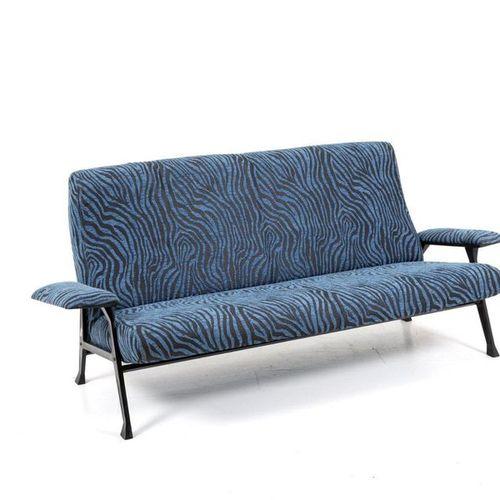 ROBERTO MENGHI. Sofa with metal structure. '50s ROBERTO MENGHI (Milan, 1920 2006…