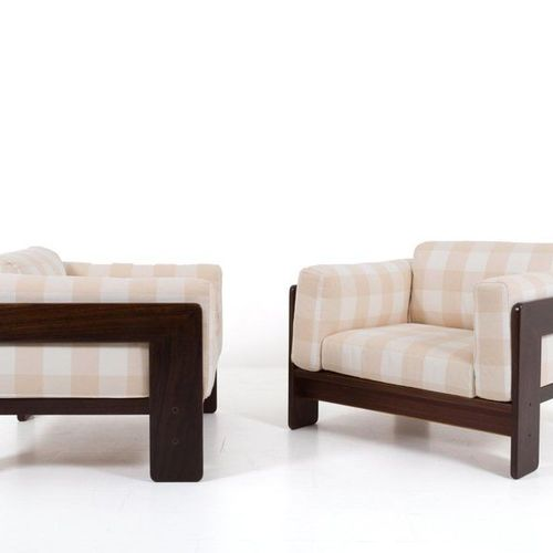 TOBIA SCARPA. Pair of wooden Bastiano armchairs TOBIA SCARPA (Venice, 1935). Pai…