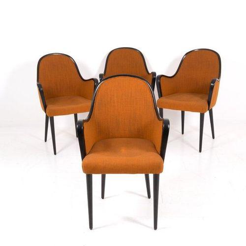 OSVALDO BORSANI for ABV. Four P35 armchairs. '50s OSVALDO BORSANI (Varedo, 1911 …
