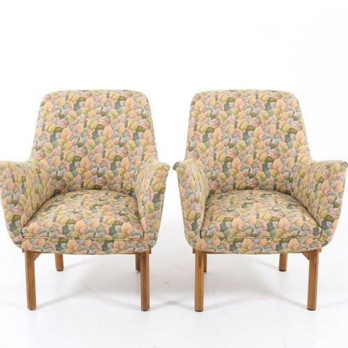 ICO PARISI (Attr.) for CASSINA. Pair of armchairs ICO PARISI (Attr.) (Palermo, 1…