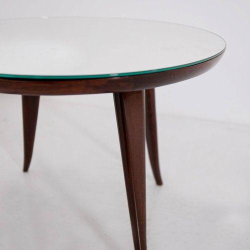 PIETRO CHIESA. Coffee table in wood and glass PIETRO CHIESA(Sagno,1876 Sorengo,1…