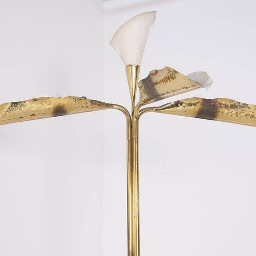 ANGELO LELII for ARREDOLUCE. Brass floor lamp ANGELO LELII (Ancône, 1915 1987) p…