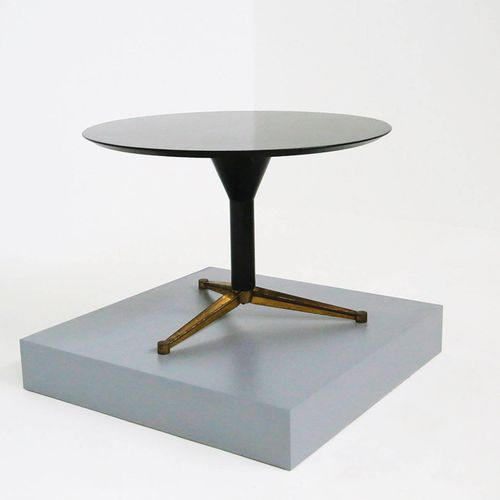 MELCHIORRE BEGA (Attr.). Wooden dining and brass table MELCHIORRE BEGA (Attr.)(C…