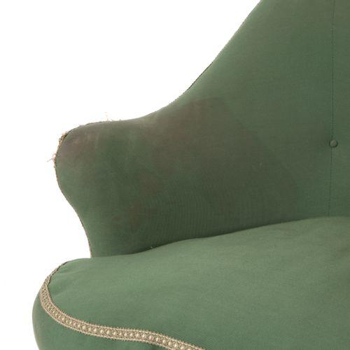 CESARE LACCA (Attr). Wooden sofa. 1950s CESARE LACCA (Attr.) (那不勒斯,1929)。木质框架的沙发…
