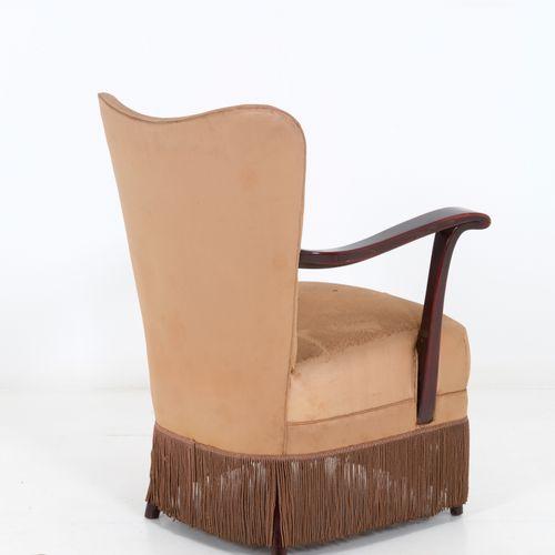OSVALDO BORSANI for ABV. Armchair with wooden armrests OSVALDO BORSANI (Varedo, …