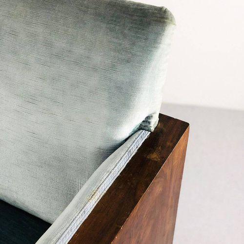 FRANCO ALBINI (Attr). Three seater sofa. 1940s FRANCO ALBINI (Attr.) (Robbiate, …