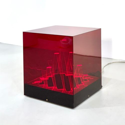 JAMES RIVIERE. Cubo di Teo table lamp. 1960s. JAMES RIVIERE (1949)为CENTRO RICERC…