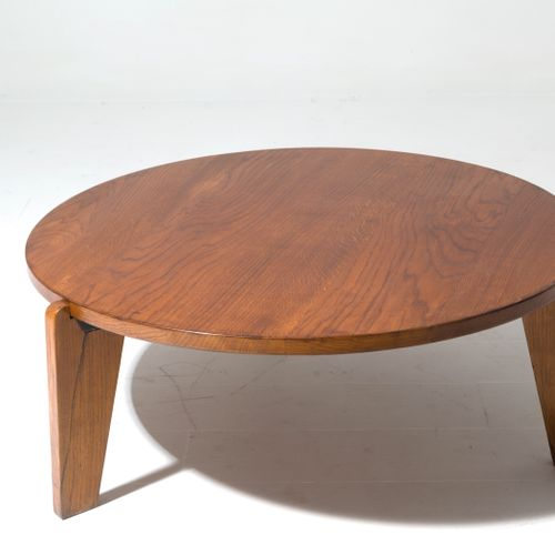 JEAN PROUVE' (Attr). Wooden Africa table. 1950s JEAN PROUVE' (Attr.) (Paris, 190…
