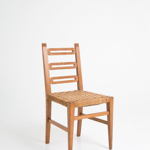 G. PONTI & E. LANCIA. Six wooden chairs. 1930s GIO PONTI(米兰,1891 1979)和EMILIO LA…